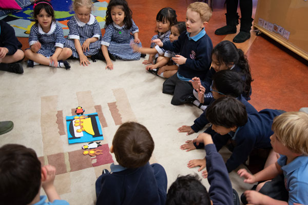 A Nursery Class carpet session