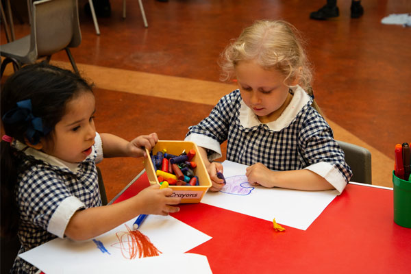 Nursery children colouring