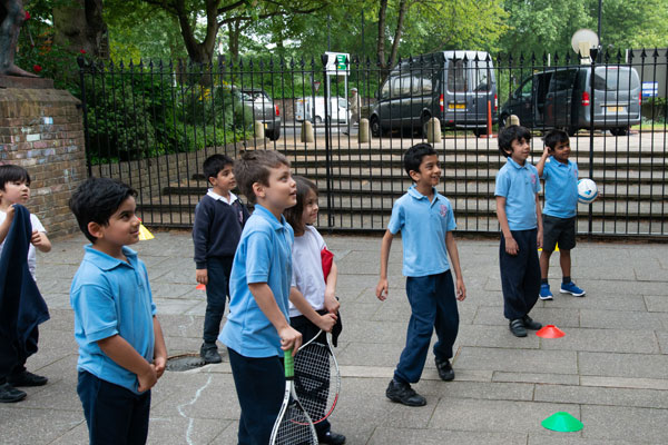 Year 1 and 2 P.E. lesson